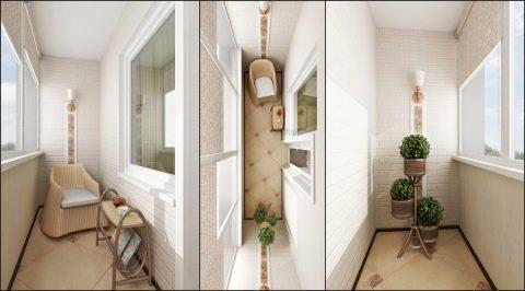 узкий балкон