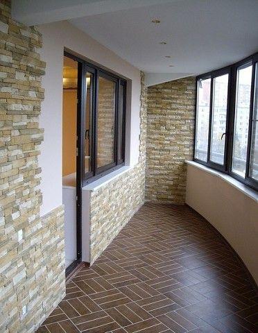 Отделка балкона гипсовая плитка