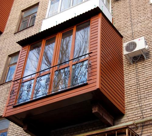 наружная обшивка балкона пластик