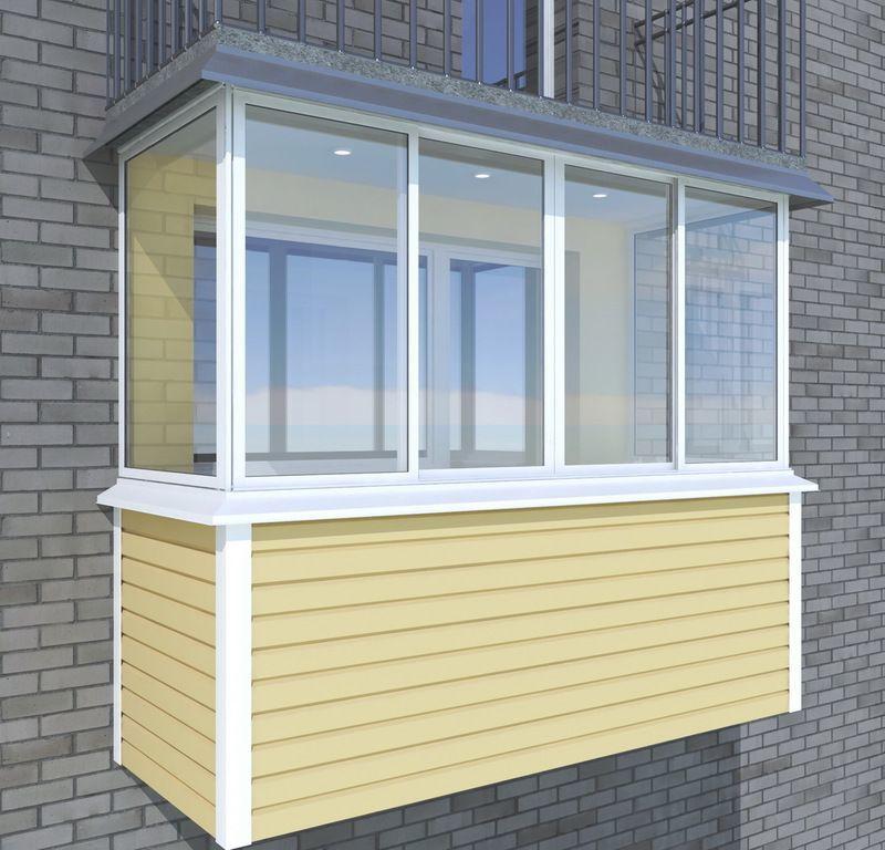 обшивка балкона сайдингом снаружи