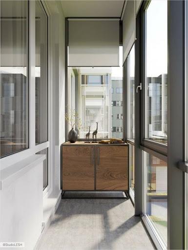 тумбочка для балкона из дерева